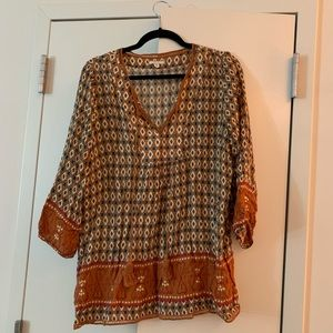 Nordstrom Tops - Mustard yellow pattern shirt.